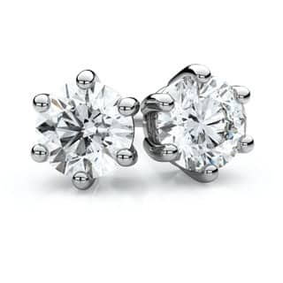 14k White Gold 1/3ct TDW 6-prong Round Diamond Stud Earrings|https://ak1.ostkcdn.com/images/products/11605783/P18543652.jpg?impolicy=medium