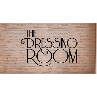 Just words Dressing Room Wall Art Sticker Decal