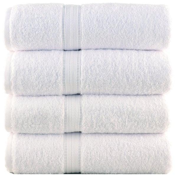 Bergamo Luxury Hotel/ Spa Turkish Cotton Bath Towels (Set of 4)