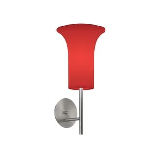 Sonneman Lighting Lightweights Sconce with Red Shade