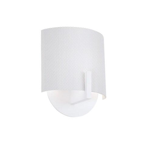 Sonneman Lighting Scudo Satin White Sconce