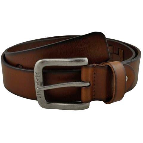 Nemesis Brown Weaved Genuine Leather Belt