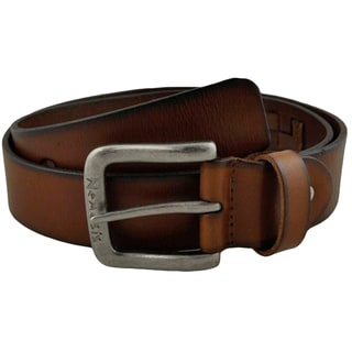 Nemesis Brown Weaved Genuine Leather Belt
