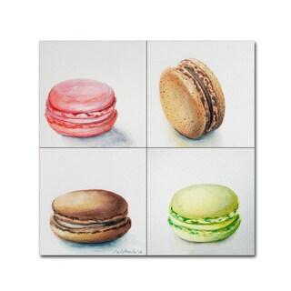 Jennifer Redstreake '4 Macarons' Canvas Wall Art