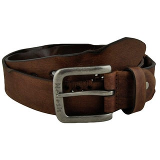 Nemesis Faded and Pressed X Brown Genuine Leather Belt