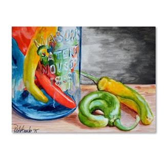 Jennifer Redstreake 'Chili Peppers' Canvas Wall Art