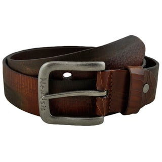 Nemesis Brown Cracked and Distressed Gunuine Leather Belt