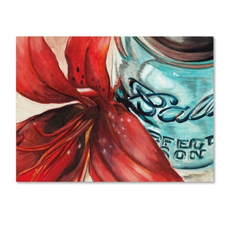 Jennifer Redstreake 'Ball Jar Red Lily' Canvas Wall Art