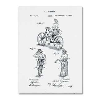 Claire Doherty 'Cycling Skirt Patent 1885 White' Canvas Wall Art