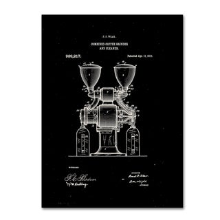 Claire Doherty 'Coffee Grinder Patent 1911 Black' Canvas Wall Art