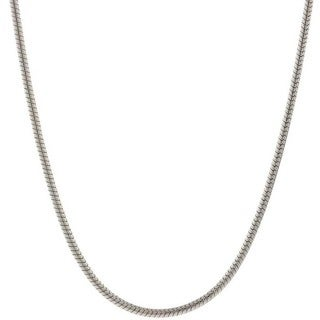 Pori Italian Sterling Silver 1.25mm Snake Chain Necklace