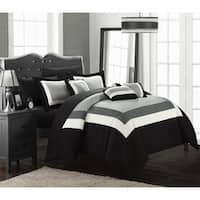 Clay Alder Home Fruita Black/ White 10-piece Bed in a Bag with Sheet Set