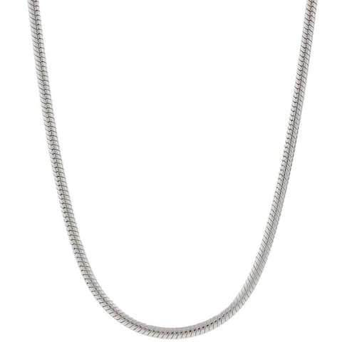 Pori Italian Sterling Silver 1.5mm Snake Chain Necklace