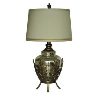 Crestview Collection 30 in. Toasted Silver Table Lamp