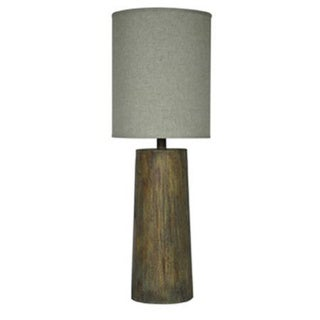 Balustrade Distressed Wood Resin 33.5-inch Table Lamp