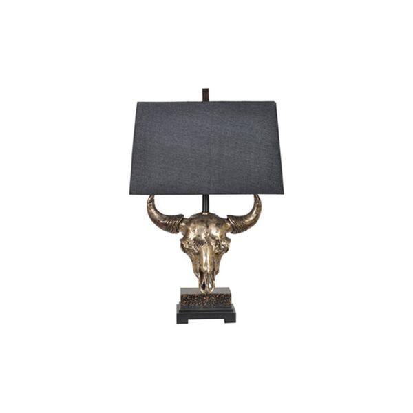 Master of the Prairies Natural Bronze 31.5-inch Table Lamp