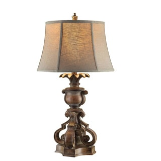 Crestview Collection 34.5 in. Rich Bronze Table Lamp
