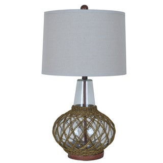 Crestview Collection 32 in. Rope and Glass Table Lamp