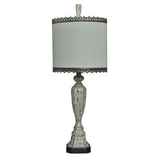 Crestview Collection 35 in. White Wash Table Lamp
