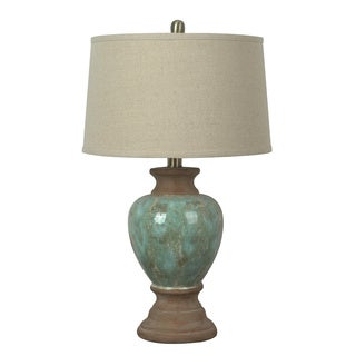 Crestview Collection 29.5 in. Azure Blue Table Lamp