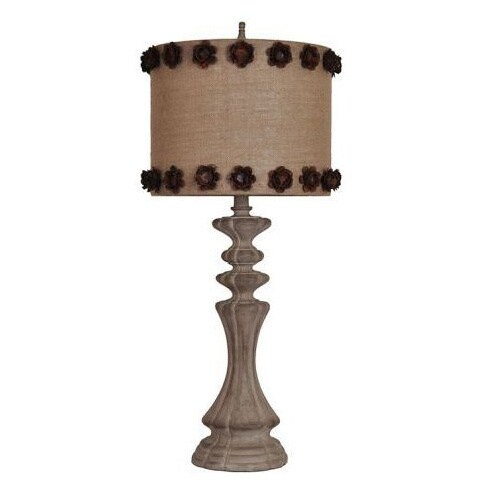 Markham White Wash 35-inch Table Lamp