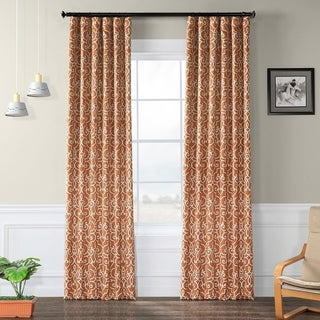 Link to Exclusive Fabrics Nouveau Rust Print Blackout Curtain Panel Pair Similar Items in Curtains & Drapes