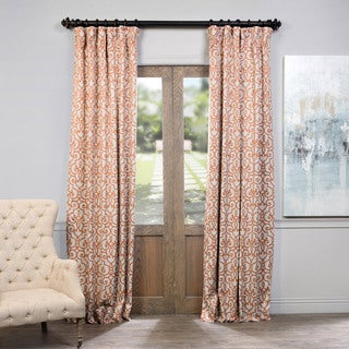Exclusive Fabrics Nouveau Rust Print Blackout Curtain Panel Pair