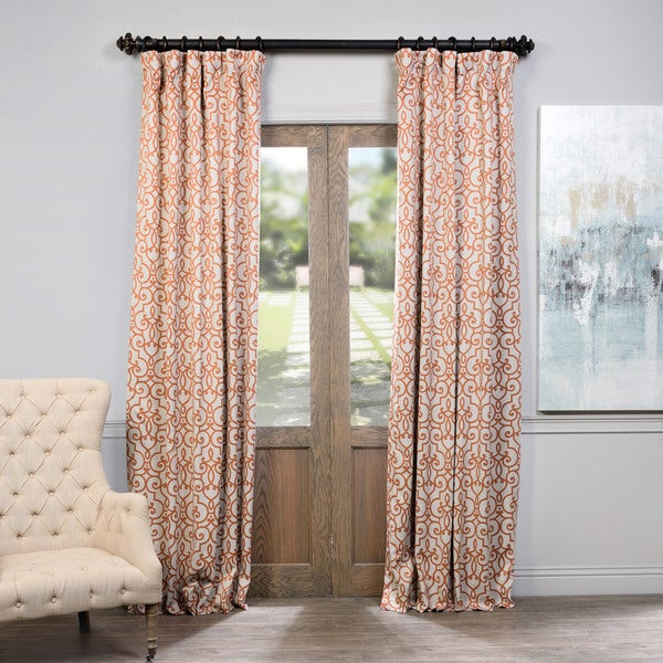 Exclusive Fabrics Nouveau Rust Print Blackout Curtain Panel Pair 18544255