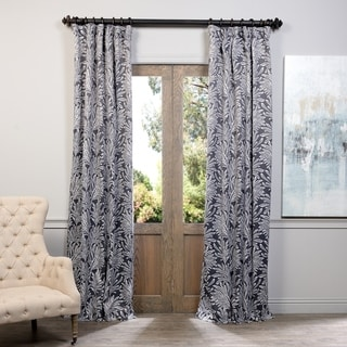 Exclusive Fabrics Flora Print Blackout Curtain Panel Pair