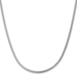 Necklaces find great jewelry deals shopping at overstock pori italian sterling silver 2mm snake chain necklace mozeypictures Gallery