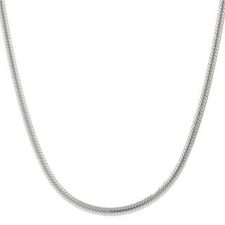 Pori Italian Sterling Silver 2mm Snake Chain Necklace