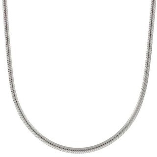 Pori Italian Sterling Silver 2.5mm Snake Chain Necklace