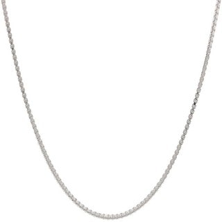 Pori Italian Sterling Silver 0.85mm Box Chain Necklace