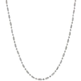 Pori Italian Sterling Silver Bead Chain Necklace (1mm)