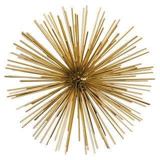 Small Gold Coated Finish Metal Sea Urchin Ornamental Sculpture
