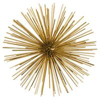 Gold Coated Finish Metal Sea Urchin Ornamental Sculpture Decor