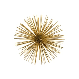 Metal Sea Urchin Ornamental Sculpture Decor Large Coated Finish Gold