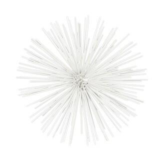 White Metal Sea Urchin Ornamental Wall Decor