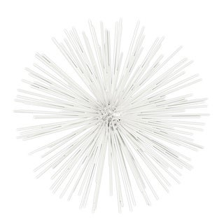 White Metal Small Ornamental Sea Urchin Sculpture