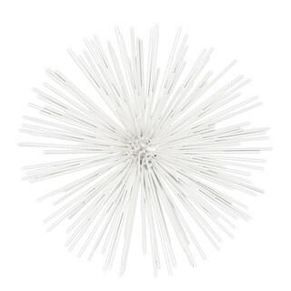 White Metal Small Ornamental Sea Urchin Sculpture