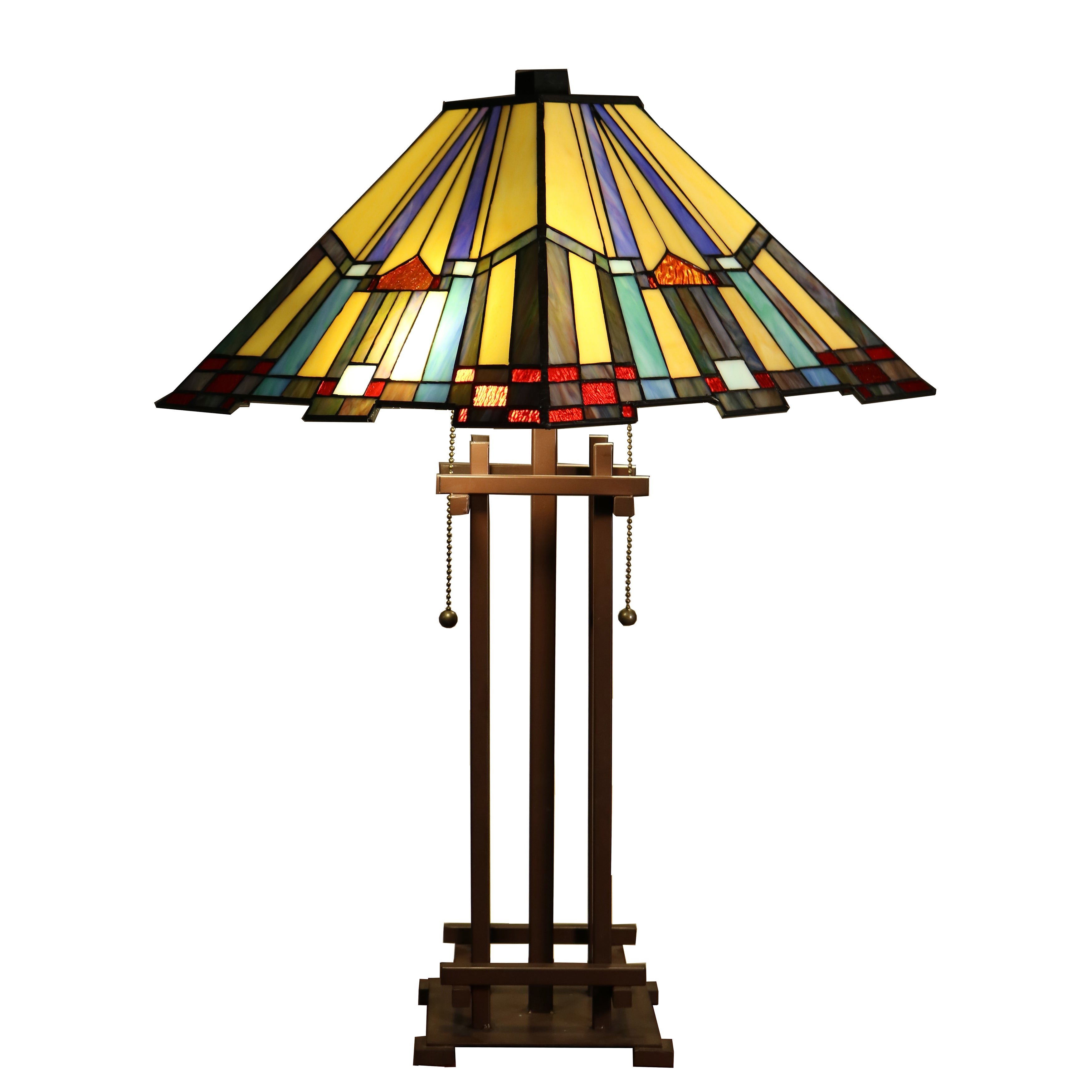 Warehouse of Tiffany Divina 2-light Multi-color Mission-s...