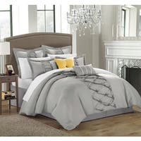 Gracewood Hollow Khadra Silver 12-piece Bed-in-a-bag and Sheet Set