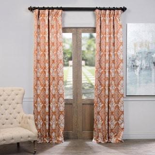 Exclusive Fabrics Damask Blackout Curtain Panel Pair