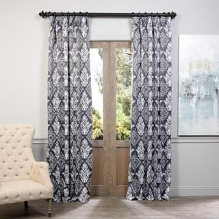 Exclusive Fabrics Damask Blackout Curtain Panel Pair