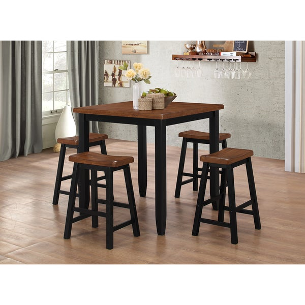 shop winston 5 piece dining room and pub set free shipping today overstock 11606528. Black Bedroom Furniture Sets. Home Design Ideas