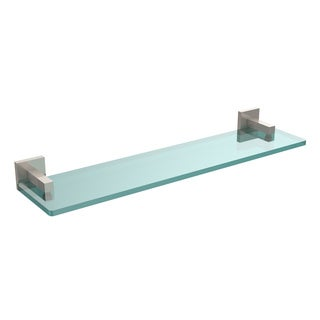 Allied Brass Montero Collection 22-inch Glass Vanity Shelf with Beveled Edges