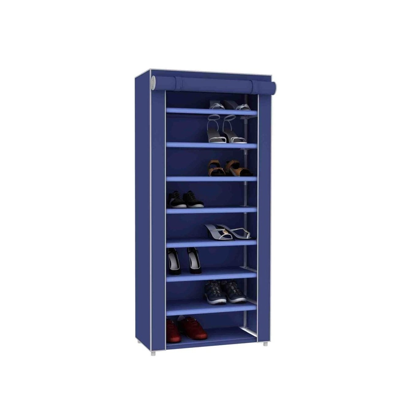 Sunbeam 24 Pair Shoe Closet (Blue) (Plastic)