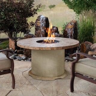 "Real Flame Ogden 42"" Round Chat Height Fire Table"