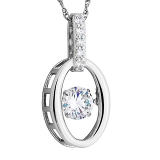 Sterling Silver Twinkling Cubic Zirconia Pendant