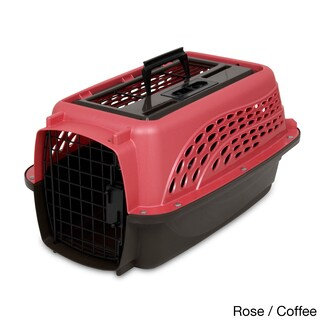 Petmate 2-door Top Load Kennel (Option: Black/Pink - Small)